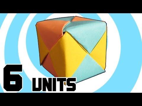 Modular Origami Cube 6 Sonobe Units - Instructions