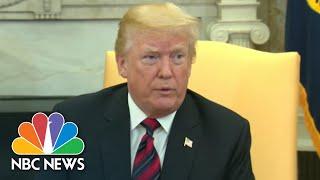 President Donald Trump On China Trade Talks: