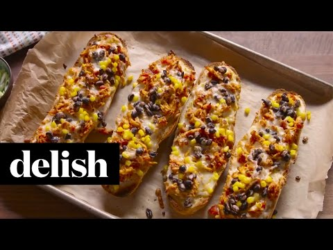 How To Make Tex-Mex French Bread Pizza | Delish