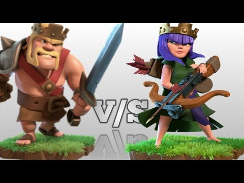 Barbarian King V/S Archer Queen | Clash Of Clans | Awesome Experiment.