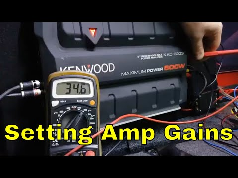 How to set Subwoofer Amp Gains