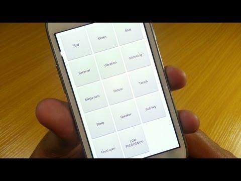 Hidden Test Screens...Part 1 on Samsung Galaxy S3 Mini