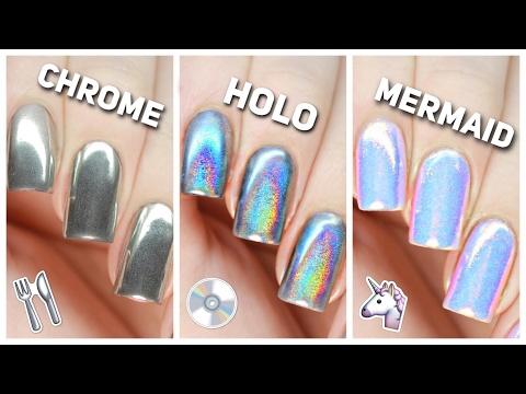 Apply Chrome, Holo, & Mermaid Nail Powders PERFECTLY!