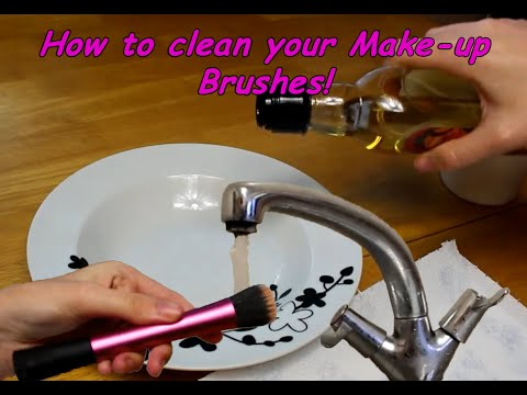 How to Deep Clean Make-up Brushes with Olive Oil | Holly Vlogs