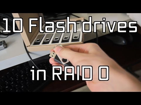 Unboxing 10 16GB flash drives, and running them in RAID