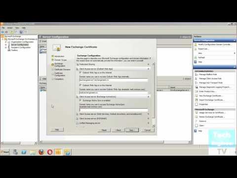 Request of SSL (Secure Socket Layer) Certificate for Exchange Server 2010