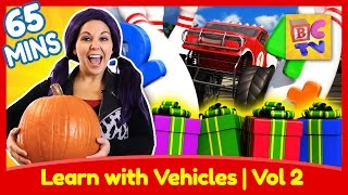 Learning with Vehicles Vol 2   ABCs, Numbers, Colors and More with Trucks for Kids