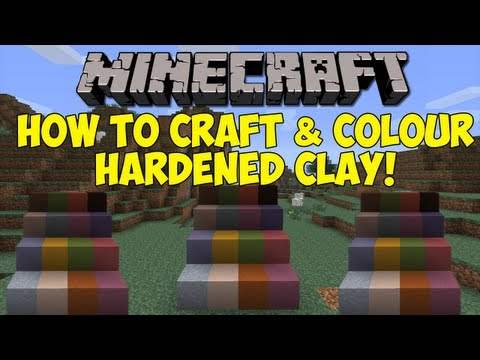 Minecraft: How To Create Hardened Clay & Change it's Colour! [1.6.1]