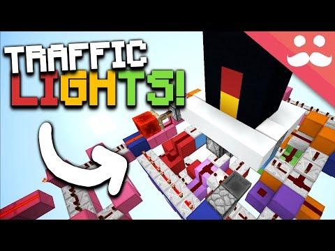 MINECRAFT CHALLENGE: Working TRAFFIC LIGHTS!