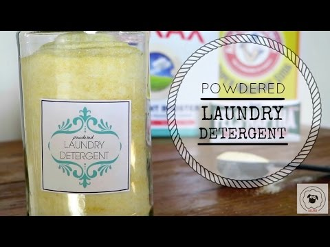 How to Make Powdered Laundry Detergent {EASY, HOMEMADE, NATURAL!!!}