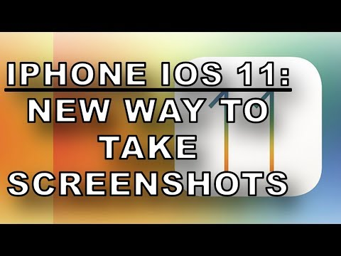 IOS 11 - New Screenshot Features How To Video Tips iPhone iPad