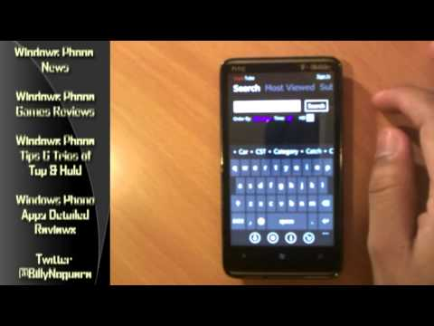 SuperTube App Review for Windows Phone 7 Download Youtube Videos to your WP7