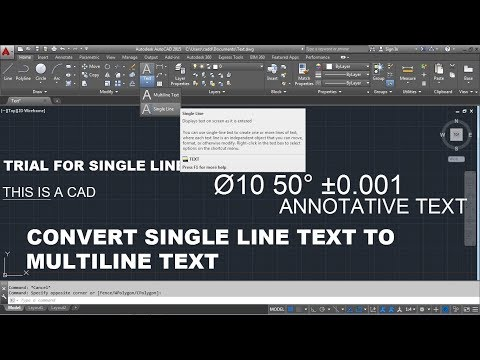 AutoCAD Text Command Tutorial Complete | Single Line Text, Text Size, Text Editing, Change Font