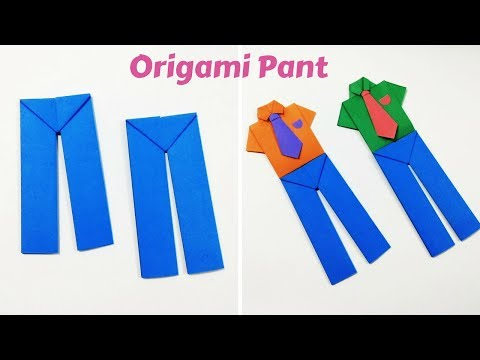 DIY Paper Pants | How to Make Origami Pants | Origami Pants | Origami for Kids | Craftastic