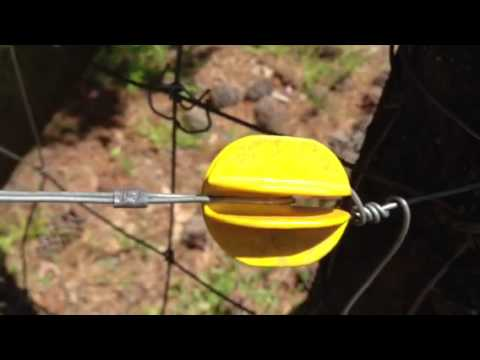 By viewer request: Electric fence clips for trees and corner posts.