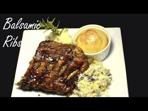 How to make Pork Ribs - Rosemary, Thyme and Balsamic Glazed Ribs
