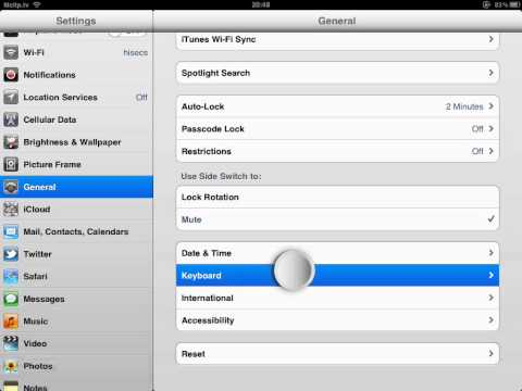 How to disable Auto-Correction on ipad ios 5