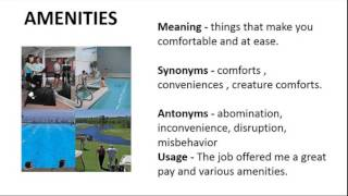 Amenity - Meaning | Pronunciation || Word Wor(l)d - Audio Video ...