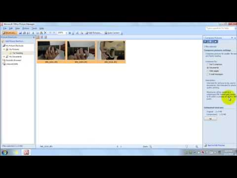 How to compress pictures using picture manager