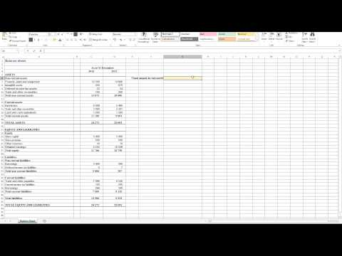 Calculating Fixed Assets to Net Worth Ratio in Excel