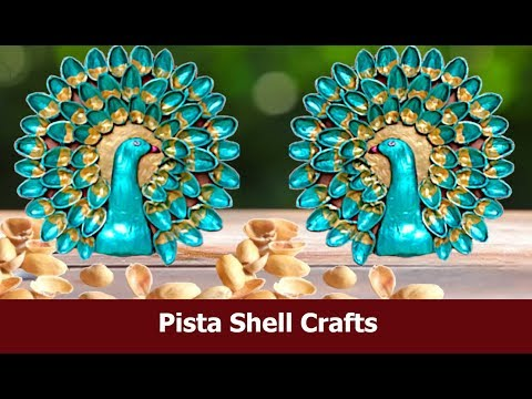 How to make easy DIY peacock /Best out of waste craft idea /craft with pista shell