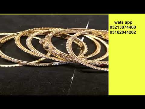 BANGLES DESIGN LIKE GOLD IN PAKISTAN/LATEST BANGLES STYLE