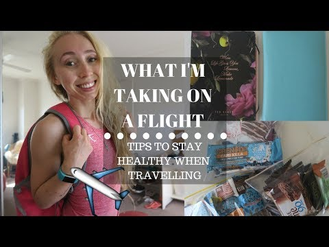 WHAT I'M TAKING ON MY FLIGHT! | How to Stay Healthy When Travelling
