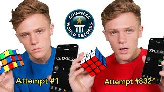I attempted Rubik's Cube world record with no experience