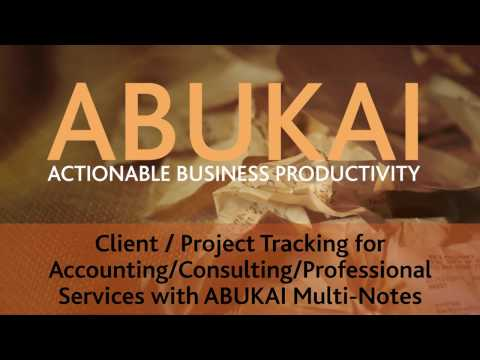 ABUKAI for Accounting/Consulting/Professional Services - Tracking of Clients / Projects