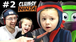 Dad & Chase play Clumsy Ninja Pt 2:  When Factory Balls Interrupt Lvl 5 Journey! (FGTEEV GAMEPLAY)