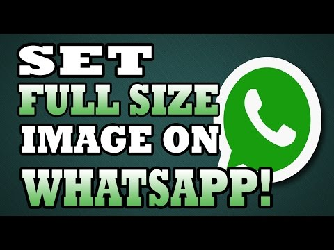 How to set Whatsapp Profile Picture or DP without Cropping