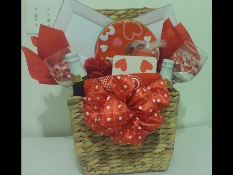 DIY Valentine's Day/Date Night Basket/Romance for Two/Dollar Tree
