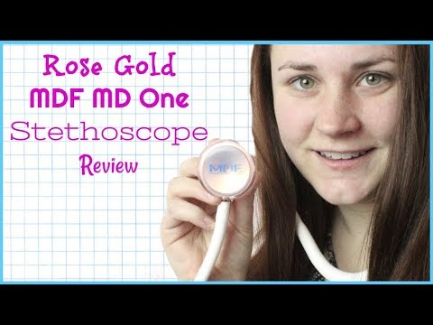 MDF MD ONE ROSE GOLD STETHOSCOPE REVIEW   Allie Young