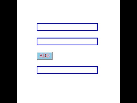 [ HTML ] Adding Two Number From Two Textbox Using JavaScript