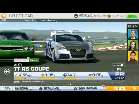 REAL RACING 3 - The Gauntlet Challenge 10 - Audi TT RS Coupe - Gameplay