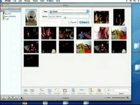 How to Use Apple iPhoto : Creating Albums in iPhoto