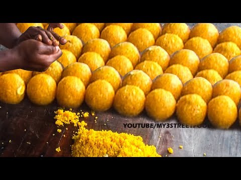 MOTICHUR LADDU  | FAMOUS SWEET IN INDIA  | Rajahmundry STREET FOOD | street food