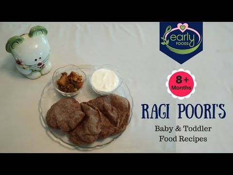 Ragi Poori's | Baby & Toddler Food Recipes 8+ Months | Early Foods