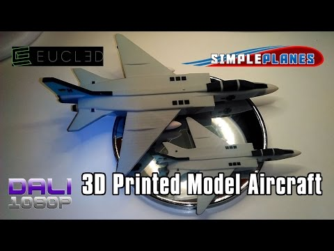 SimplePlanes 3D Printed Aircraft Models by EUCL3D Unboxing + Overview + PC Gameplay