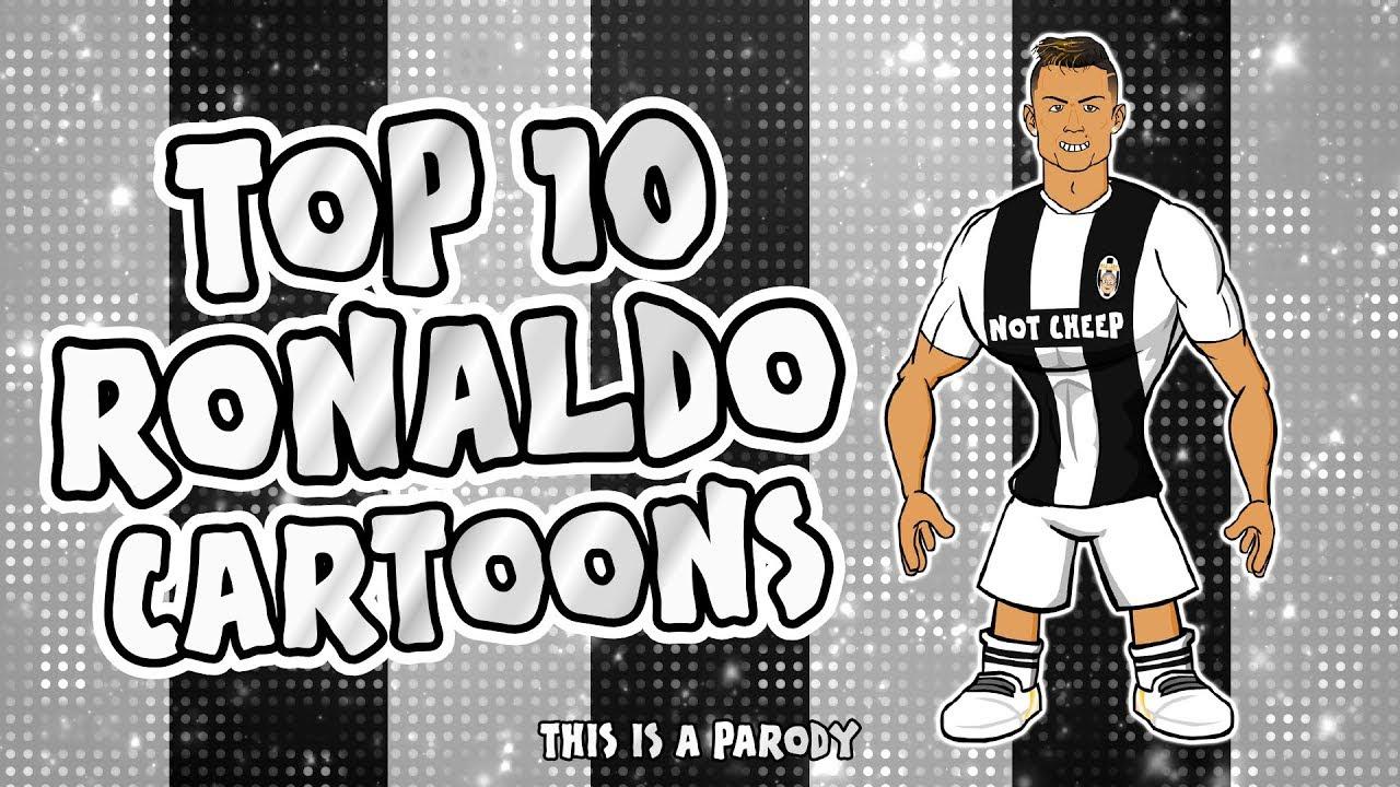 💪🏼RONALDO: Top 10 Cartoons💪🏼 (Parody songs, goal, highlights montage)