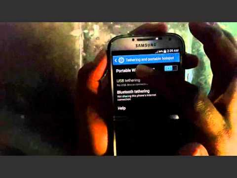 Samsung Galaxy S4 : How to Enable Mobile Hotspot (Android Kitkat)