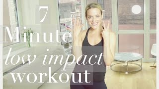 7 minute LOW IMPACT CARDIO WORKOUT! BUSY BABE WORKOUT