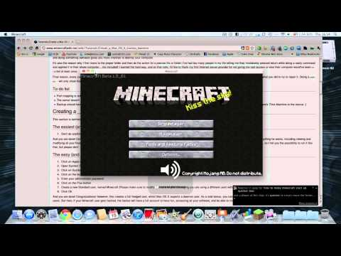 How to get Minecraft in Full Screen Mode - Mac