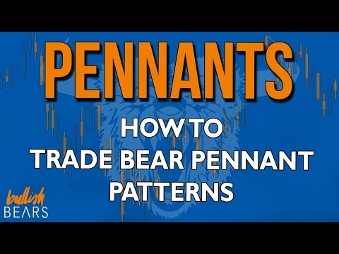 Bear Pennants  - What Does a Bear Pennant Pattern Look Like and Mean?
