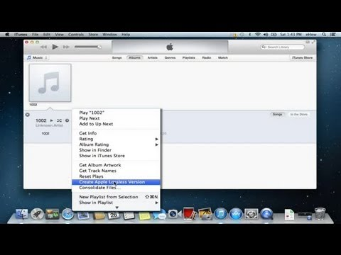 How to Convert a WAV to an Apple Lossless : Apple Product FAQs
