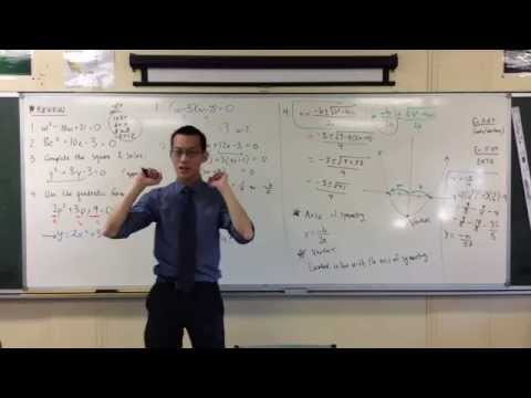 Parabolas: Axis of Symmetry & Vertex