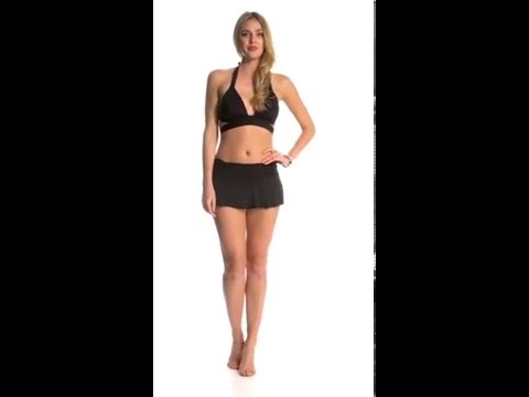 Kenneth Cole Strappy Hour Wrap Push Up Halter Bikini Top   SwimOutlet.com