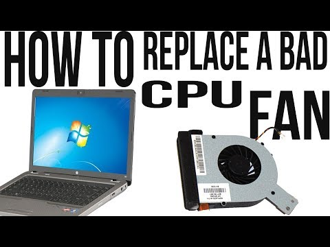 HOW TO: replace a bad cpu fan on a laptop