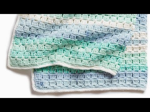 How to Crochet A Baby Blanket: 🍰  Caron Baby Cakes