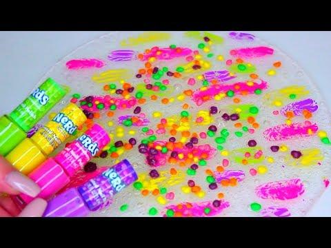 Nerds SLIME! DIY Nail Polish Slime! Cách làm slime bằng hồ khô